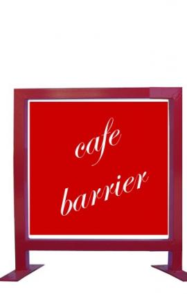 Cafe Barriers - Square Corners